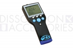 Portable pH, mV, ion and temperature meter for measuring pH in dissolution media or other types of applications