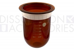 PSGLA9CR-ADK-1-Liter-Amber-Dissolution-Vessel-with-Acculign-ring-Distek