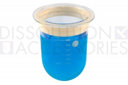 PSGLA9CR-DK-1-Liter-Clear-Dissolution-Vessel-with-Acculign-ring-Distek