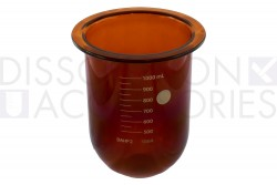 PSHPGLA900-AEL-1-Liter-High-Precision-Amber-EaseAlign-Dissolution-Accessories-Electrolab